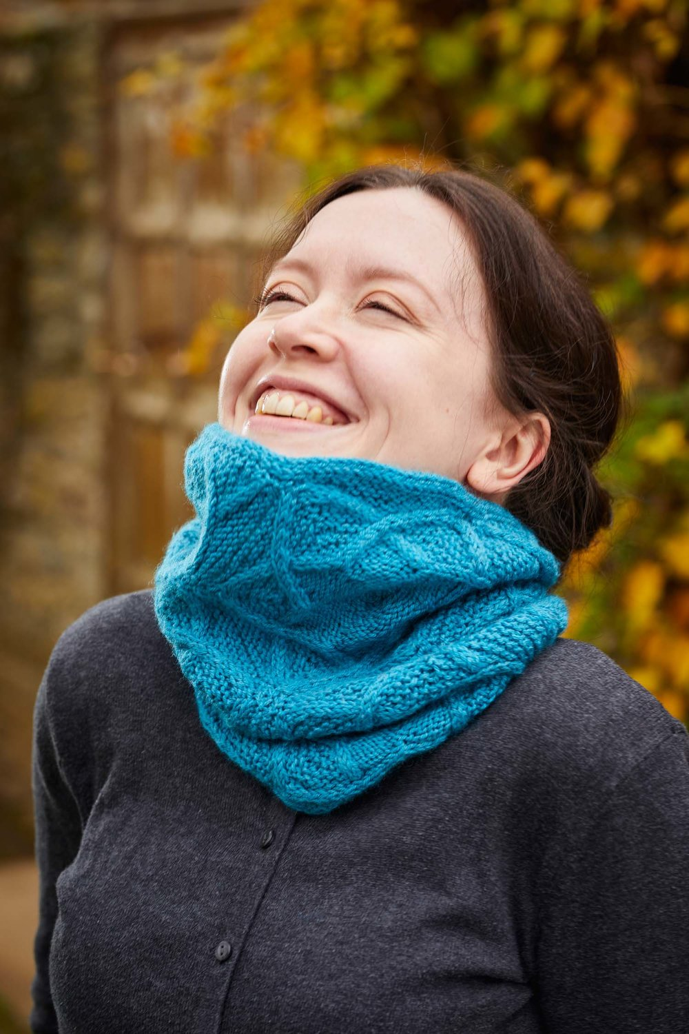 Pleione Cowl by Lucy Hague; Photo ©Jesse Wild
