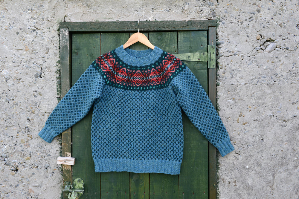 Sandison Yoked Jumper by Hazel Tindall