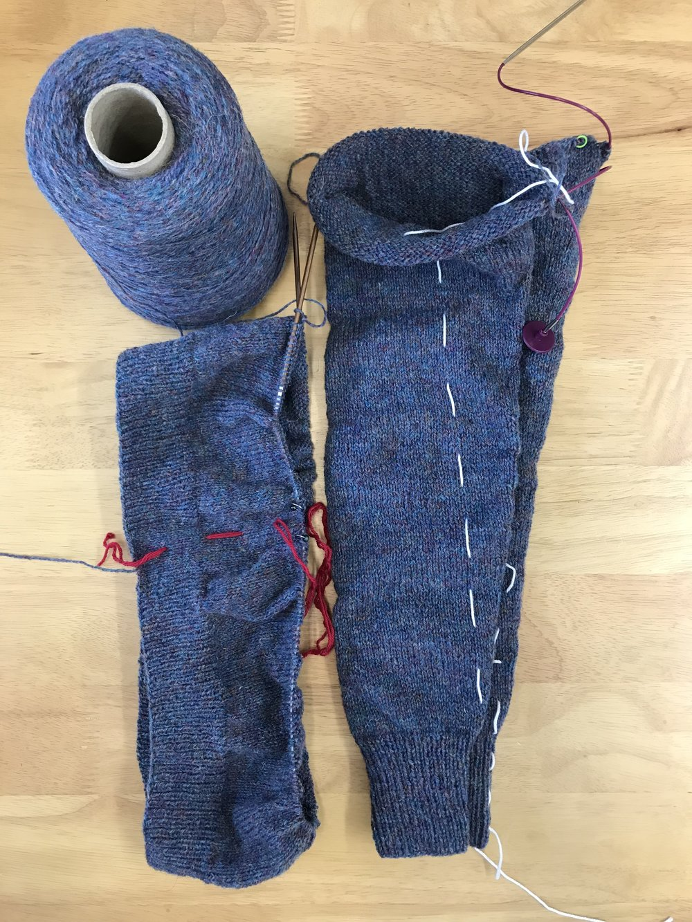 Ola Yoke progress in Jamieson and Smith Jumper Weight.jpg