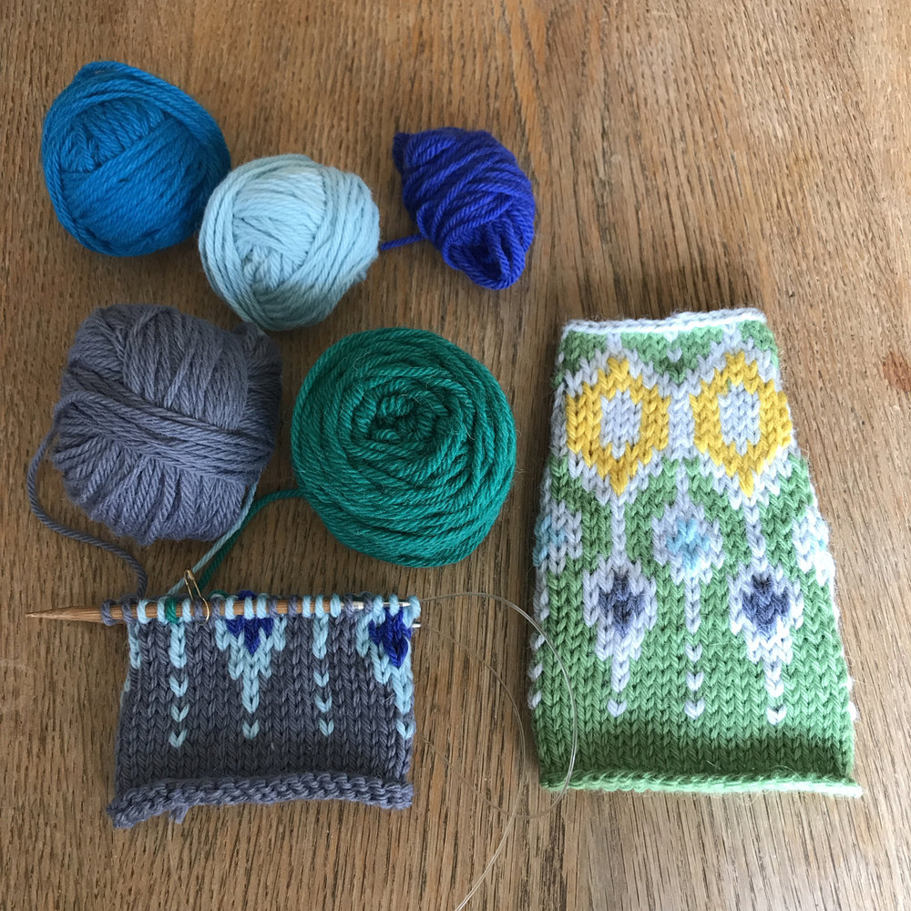 Telja swatches in Something to Knit With Aran.jpg