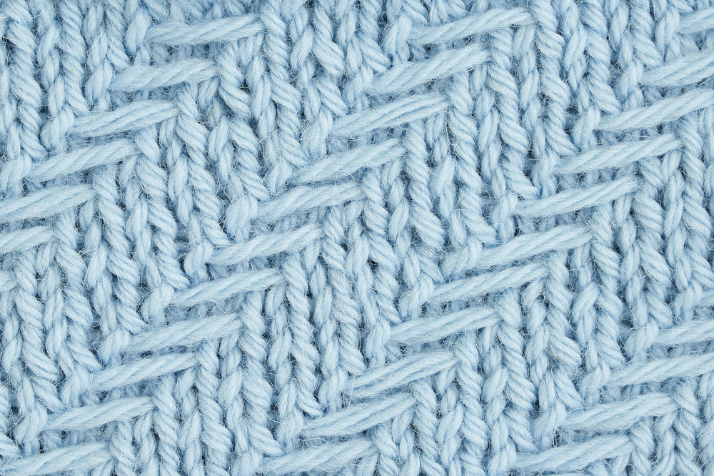 Woven Diagonal Herringbone Stitch.