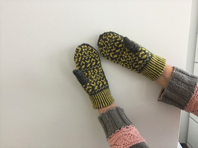 Angelika ( Noahsark5302 ) knit her very neatly stranded Shaila mittens in just a week!