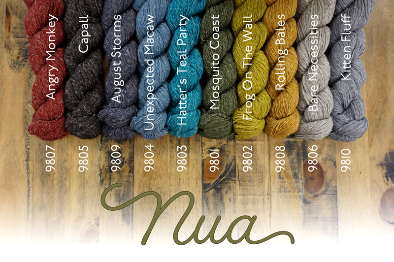 A selection of Nua shades. Image © Fyberspates.
