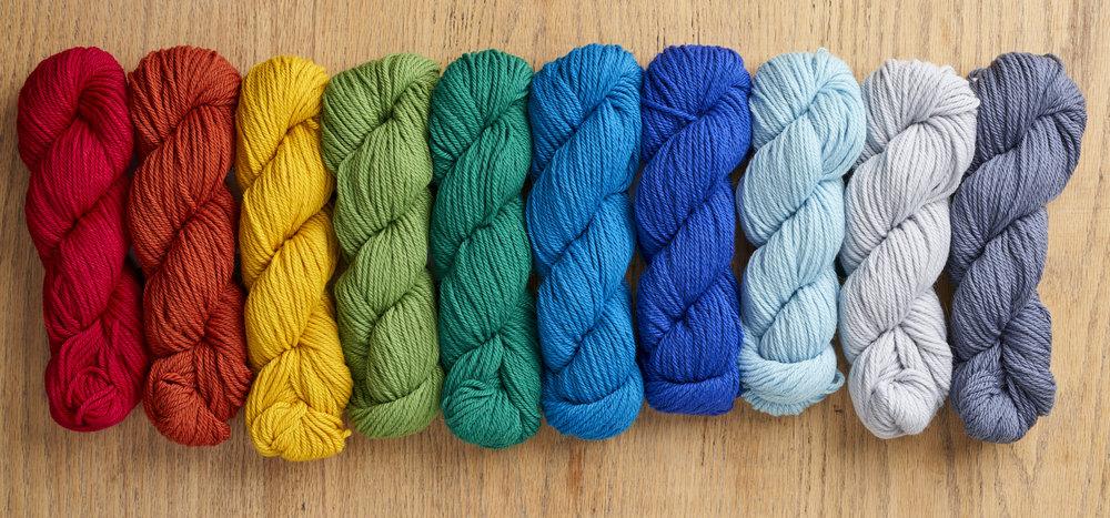 Something to Knit With Aran Rainbow! Image © Jesse Wild.