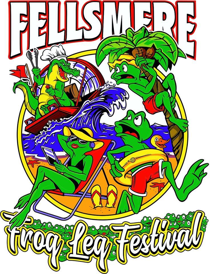 2018 Fellsmere Frog Leg Festival Shirt Design Bayou Beach