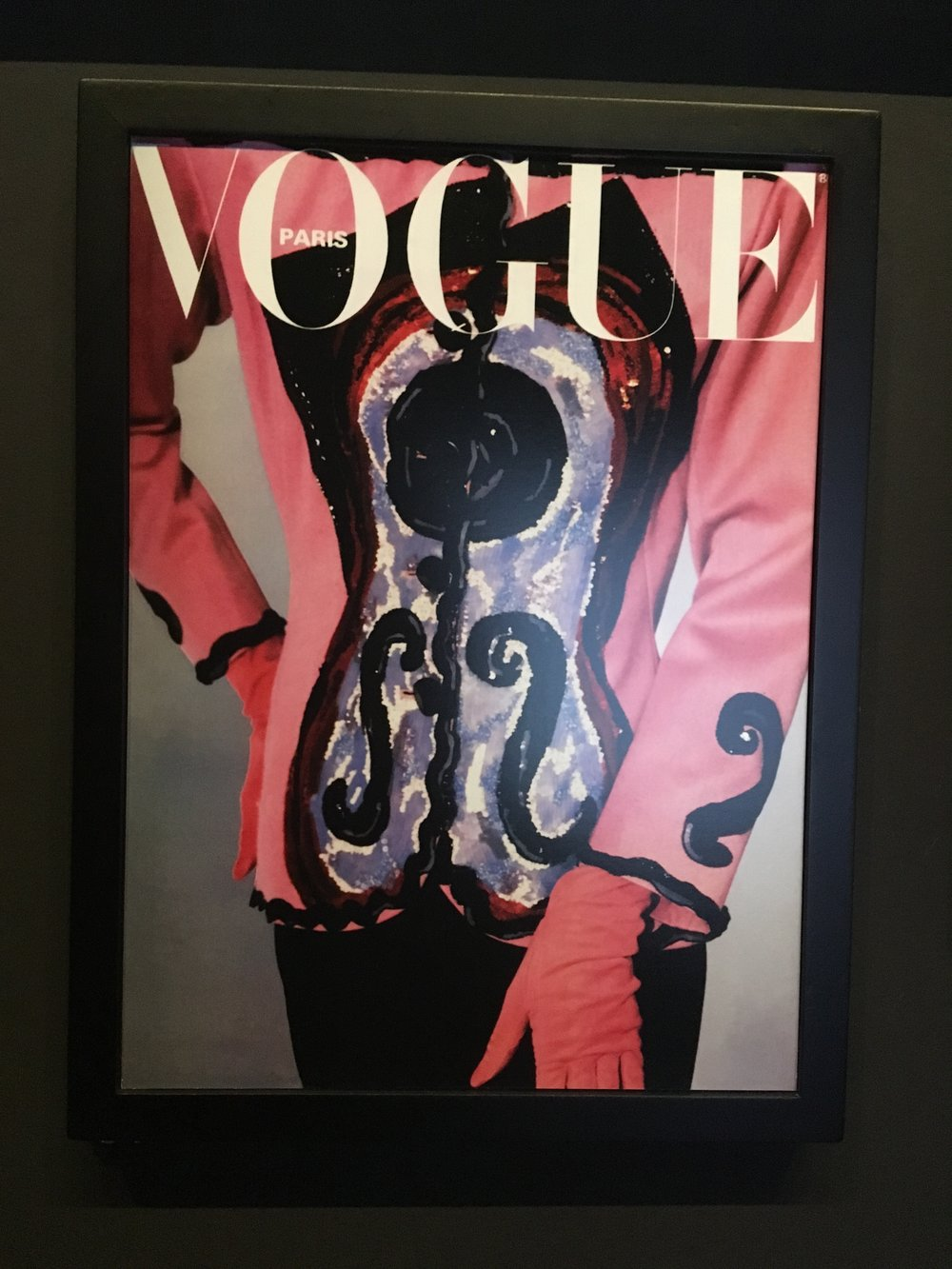 Michael Roberts' cover for  Vogue  Paris, 1988, featuring YSL's cubist tribute to Picasso