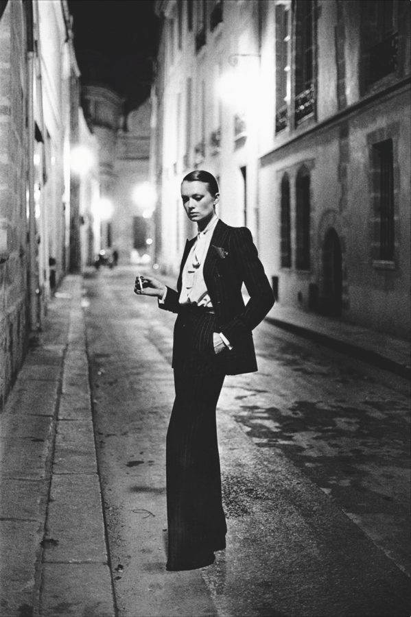 Le Smoking, YSL, rue Aubriot, Paris, 1975
