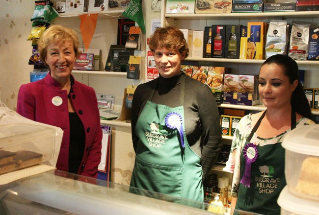 Visiting Sulgrave Village Shop in 2012 (courtesy of Sulgrave.org)