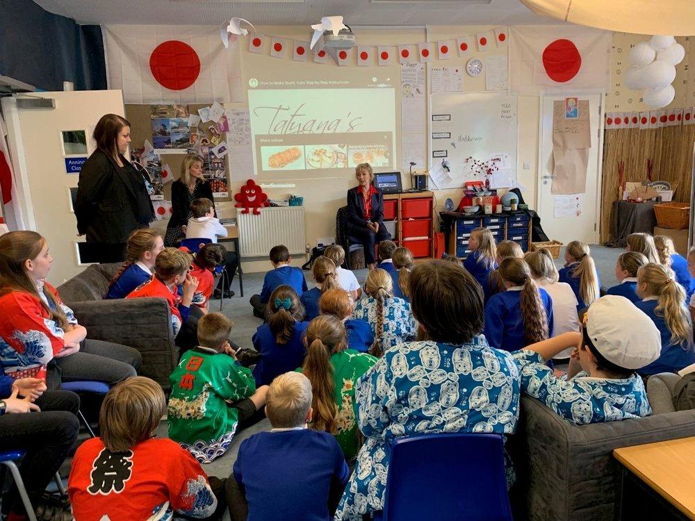 Speaking at John Hellins Primary School in Potterspury. Read more here .