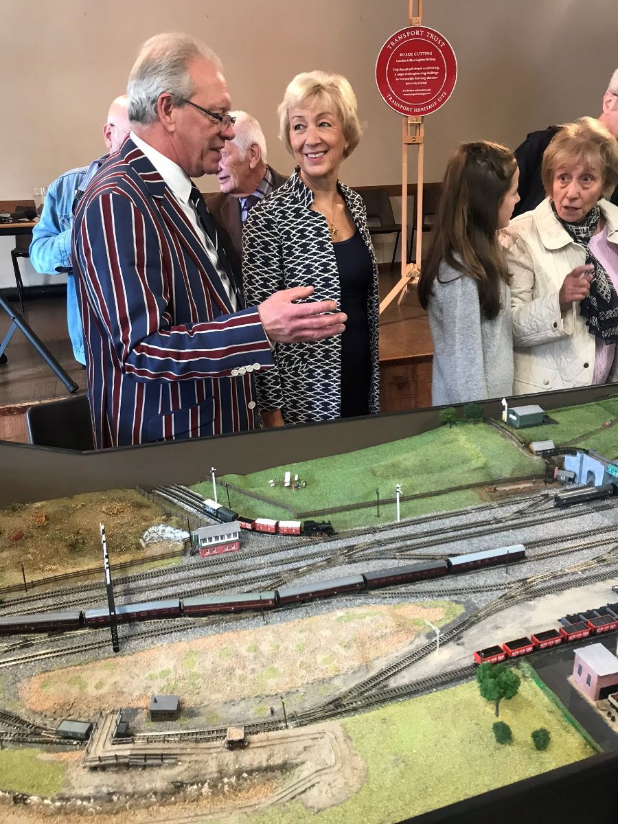 Opening the exhibition celebrating the 180th anniversary of the Roade railway cutting. Read more here .
