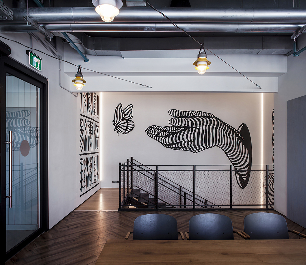 similarweb offices - roy david architecture studio - nir pilpeled art