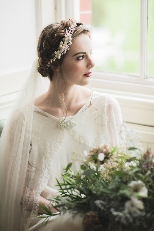 Vintage dress and veil