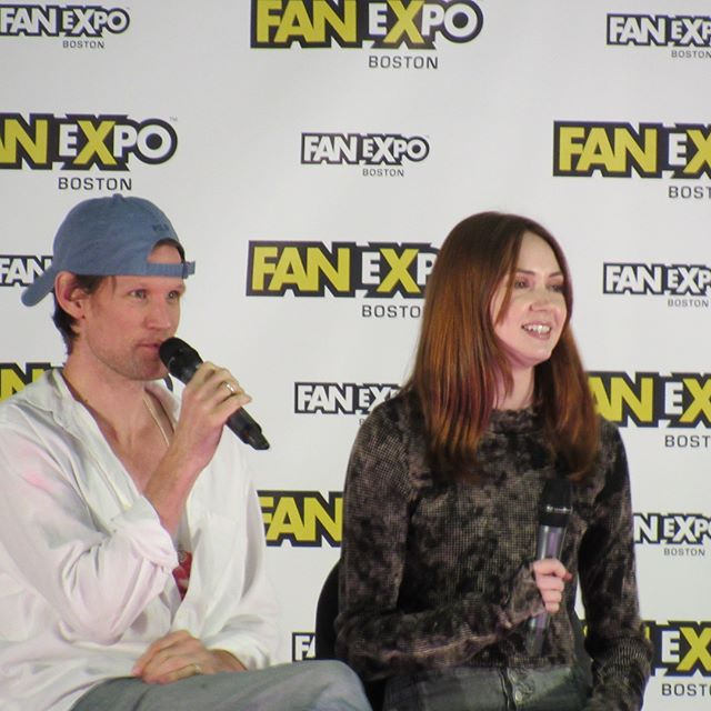 My favorite doctor and companion. @karengillanofficial #bostoncomiccon #doctorwho #mattsmith #karengillan #amypond #thegirlwhowaited