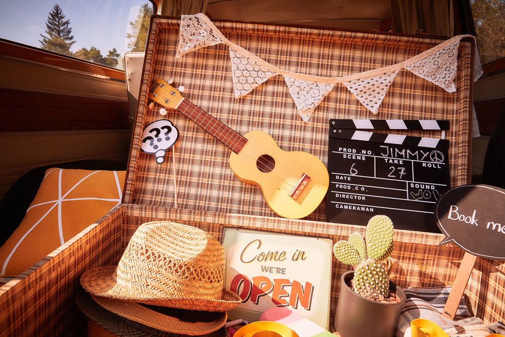 Jimmy Fotobus Photobooth Requisiten Fotobox