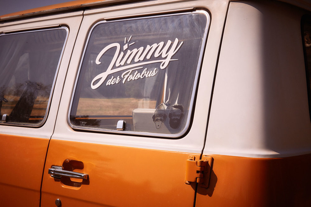 Jimmy Fotobus Logo Fotobox Photoboot München