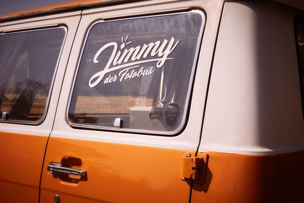 Jimmy Fotobus Logo Fotobox Photoboot München