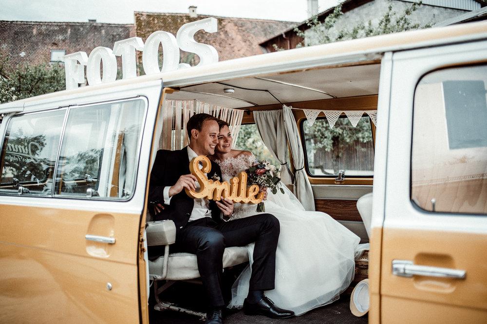 Hochzeit Fotobus Jimmy Photobooth Braut Bräutigam Trauung