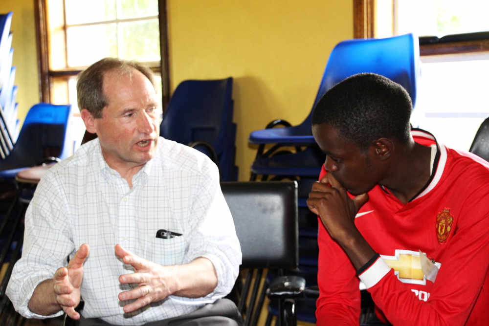 EFAC mentor Jay Dinkel with his EFAC student, Joshua.   Joshua studies mining engineering at Jomo Kenyatta University of Agriculture and Engineering.