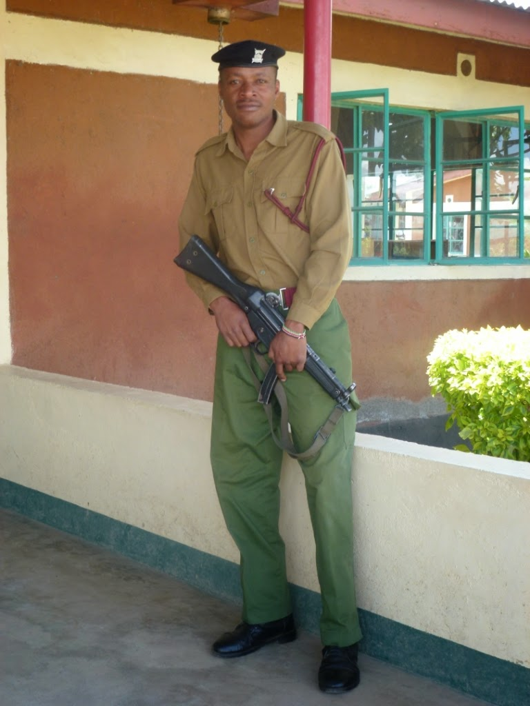 The armed guard who has been on campus at VGGS since the start of exams, which is standard procedure.