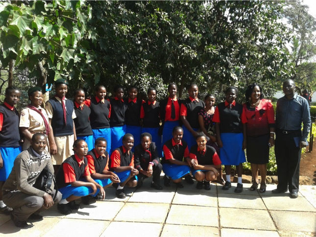 EFAC team with form four students at Stahrehe Girls School.