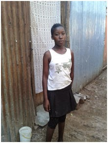 Tabitha at her house in Ongata Rongai