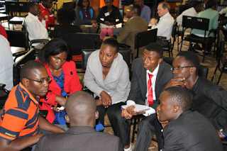 Speed networking with corporate guest