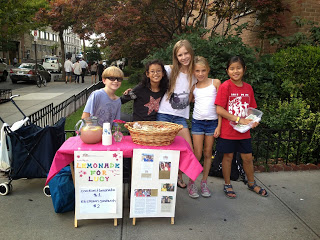 a new lemonade stand fundraiser for Lucy's second year.