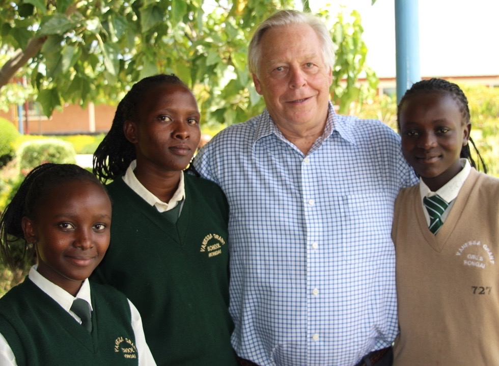"""George R. Trumbull - """"When the bell tolls for me, the highlight will have been helping change the lives of so young people in Kenya"""""""