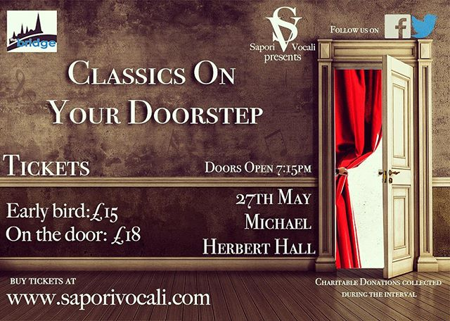 Only 3 days until the finale of our concert series #classicsonyourdoorstep #salisbury #opera #getyourtickets