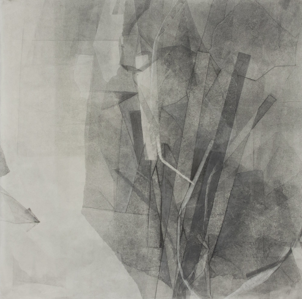 "Finding Reason, 22 3/4""x22 3/4"", Monotype, 2013"