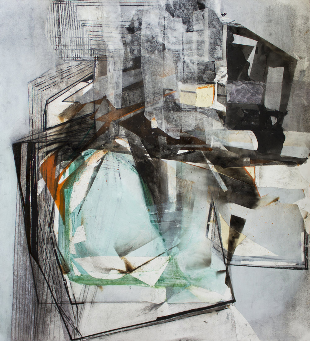 "March II, 21""x18"", Monotype, Collage, Charcoal, 2015, sold"