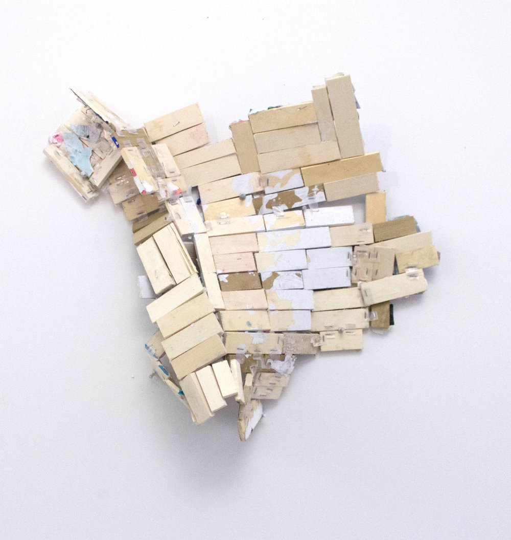 """First Thoughts, Approximately 30""""x20"""", Wood, Collage, 2017 [Unavailable]"""