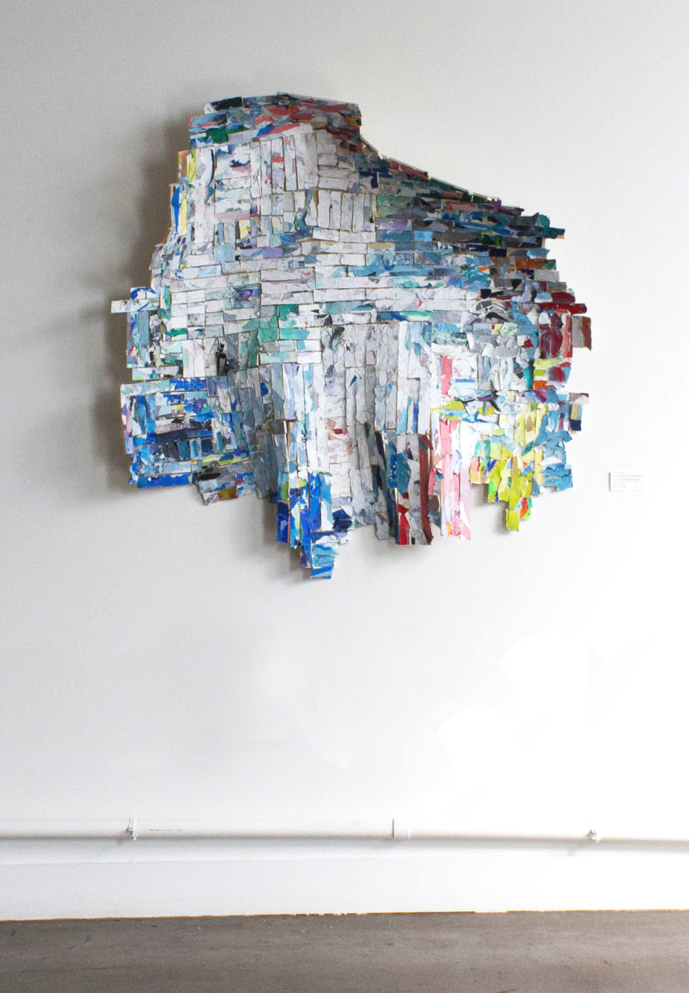 """Everything Stays the Same and Everything Changes, Approximately 54""""x54"""", Trash, Scrap Paper and Wood, Plastic, 2016, [Unavailable]"""