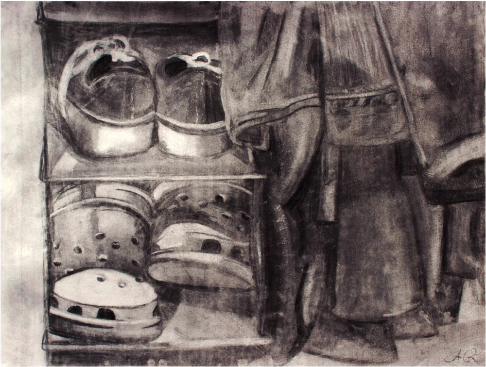Anna Gerlach, Line & Value: Drawing and 2D Design, Charcoal, Butler University, 2014