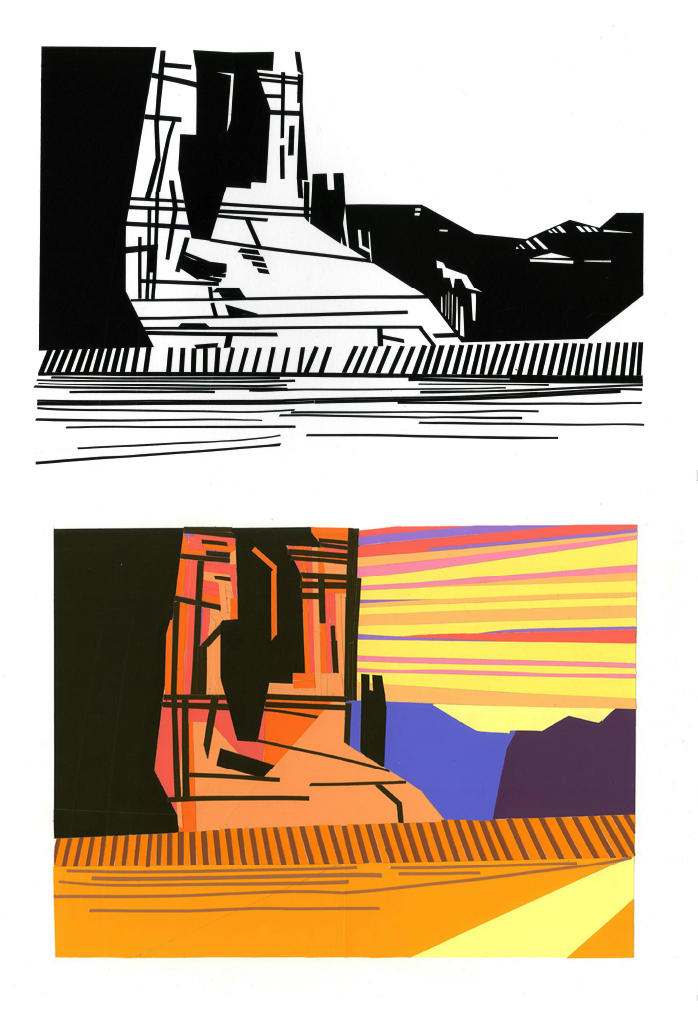 Taylor Flannagan, Color & 2D Design, Photo Translation: Color Aid, Black Paper, Indiana University, 2013