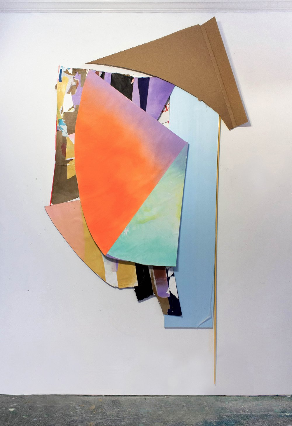 "Kristy Hughes, Towards the Corner, 86""x43""x7"", Mixed Media"