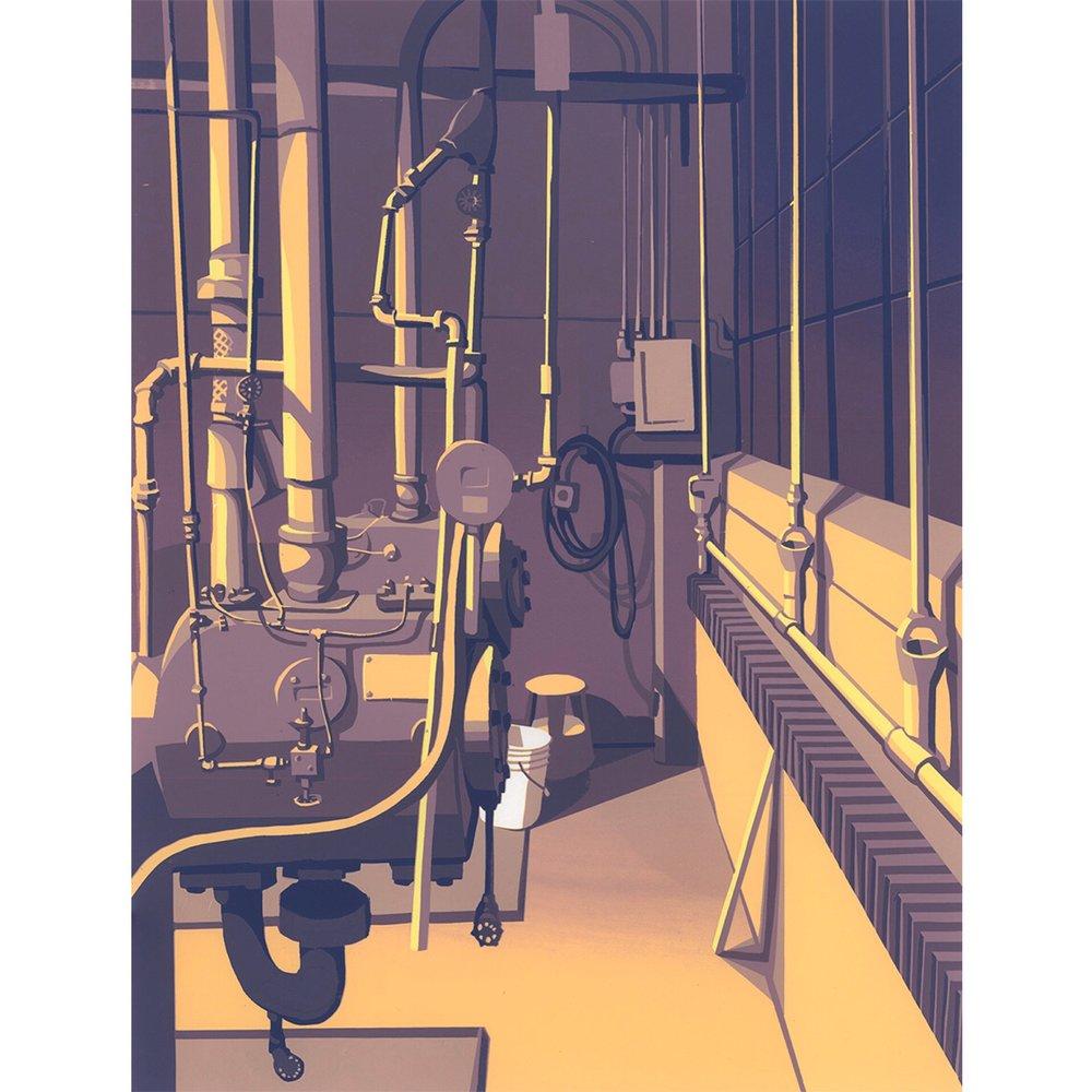 "Sean Hurley - COMPRESSORS - 15.75"" x 11.75"" -Silkscreen"