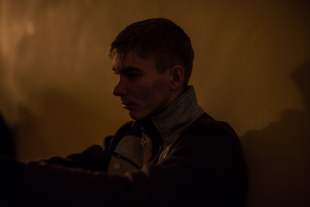 Taras Chumak, 20, from the town of Ivano-Frankivsk, rests inside the International Center of Culture and Arts, which is occupied by anti-government protesters, on December 8, 2013 in Kiev, Ukraine. Thousands of people have been protesting against the government since a decision by Ukrainian president Viktor Yanukovych to suspend a trade and partnership agreement with the European Union in favor of incentives from Russia.