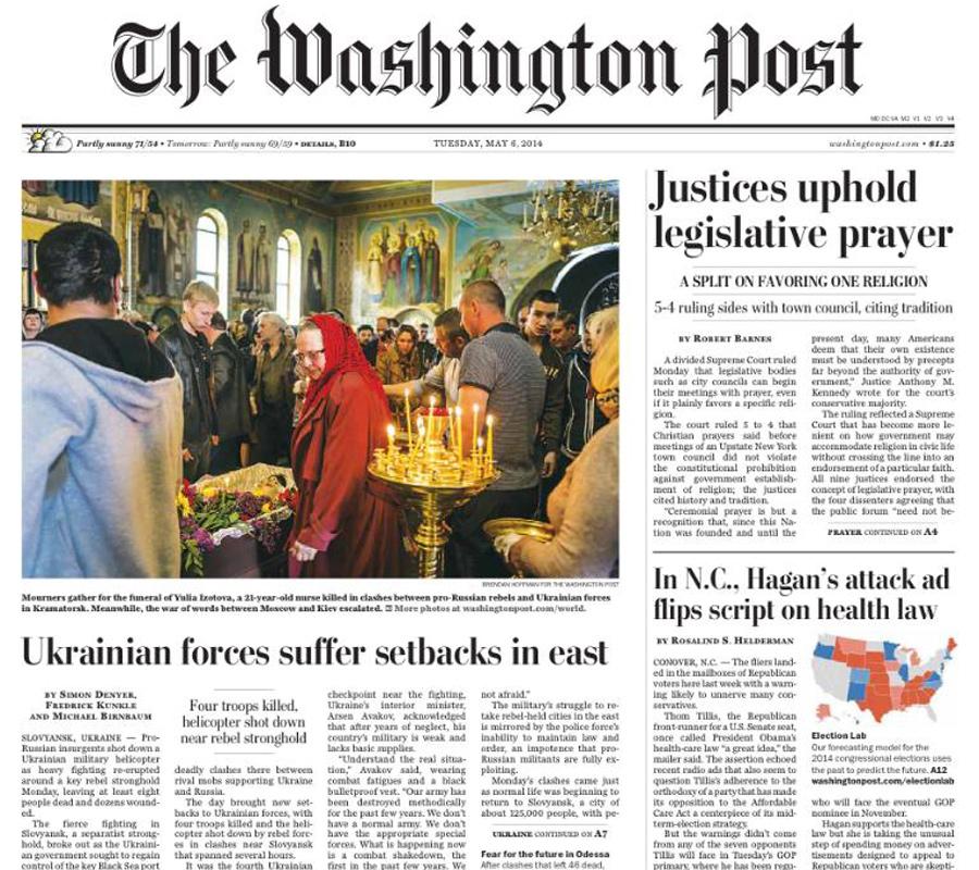 The Washington Post, 6 May 2014