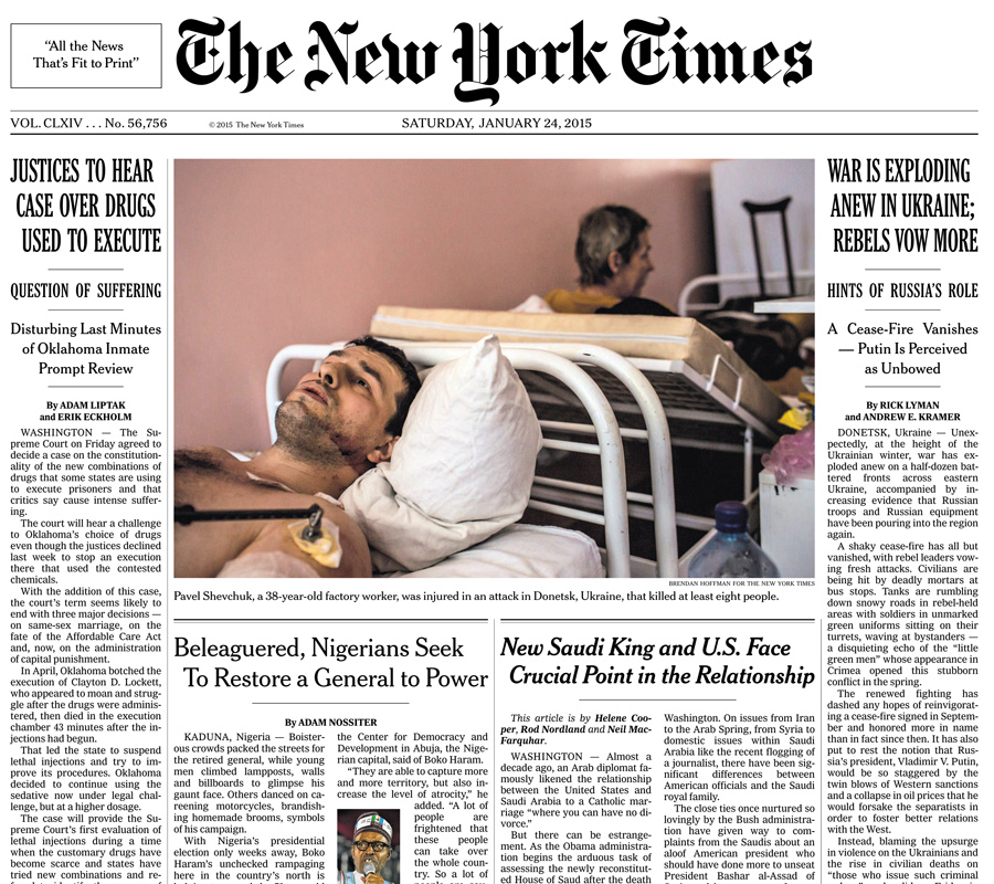 The New York Times, 24 January 2015