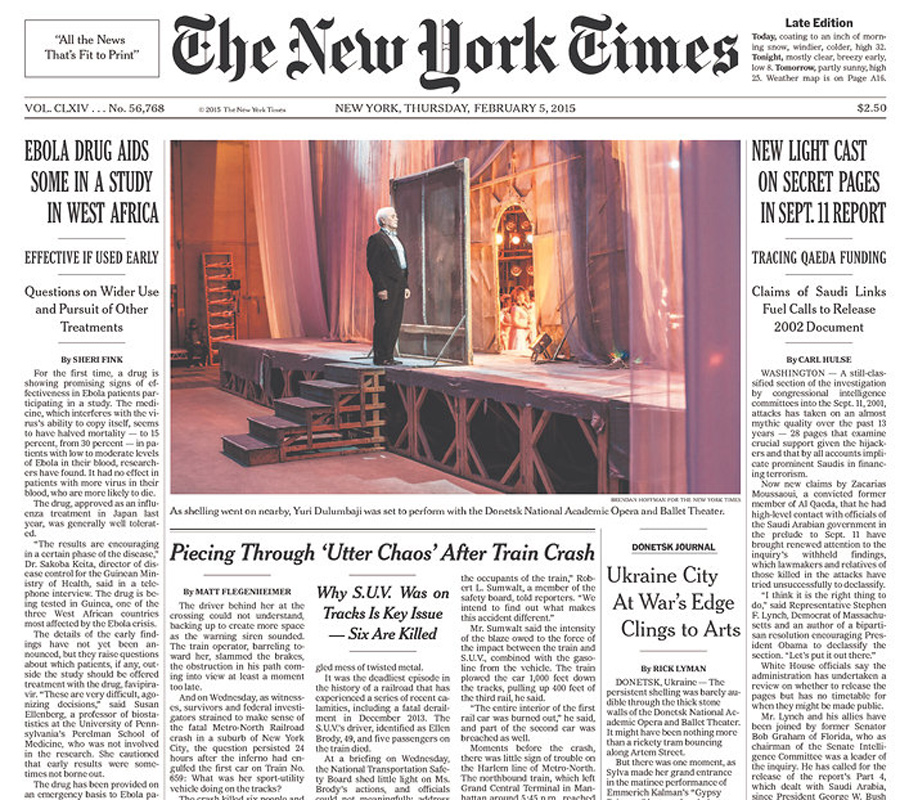The New York Times, 5 February 2015
