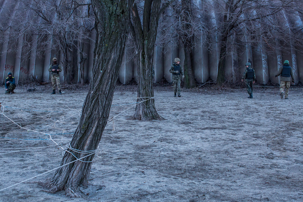 New recruits of the St. Mary's Battalion. Mariupol, Ukraine. February 2015.