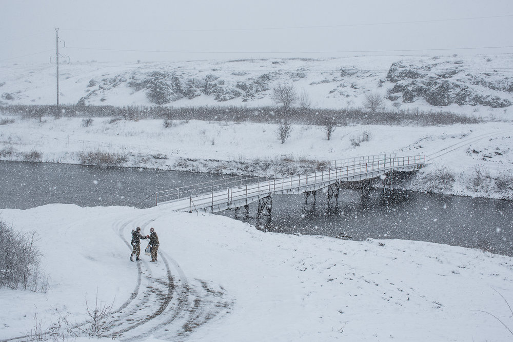 Ukrainian Soldiers in the Snow