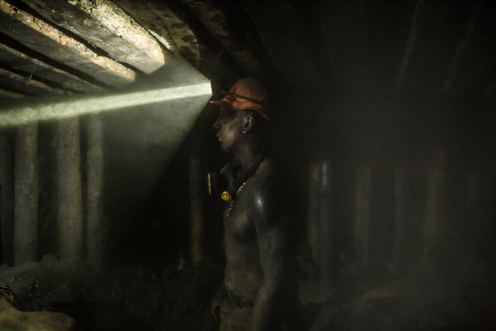 Underground at the Shcheglovskaya Coal Mine. Makiivka, Ukraine. March 2016.