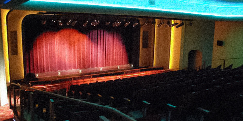 Uptown Theater Grand Prairie, Texas. Instal by Infinity Sound of Grand Prairie, Texas.