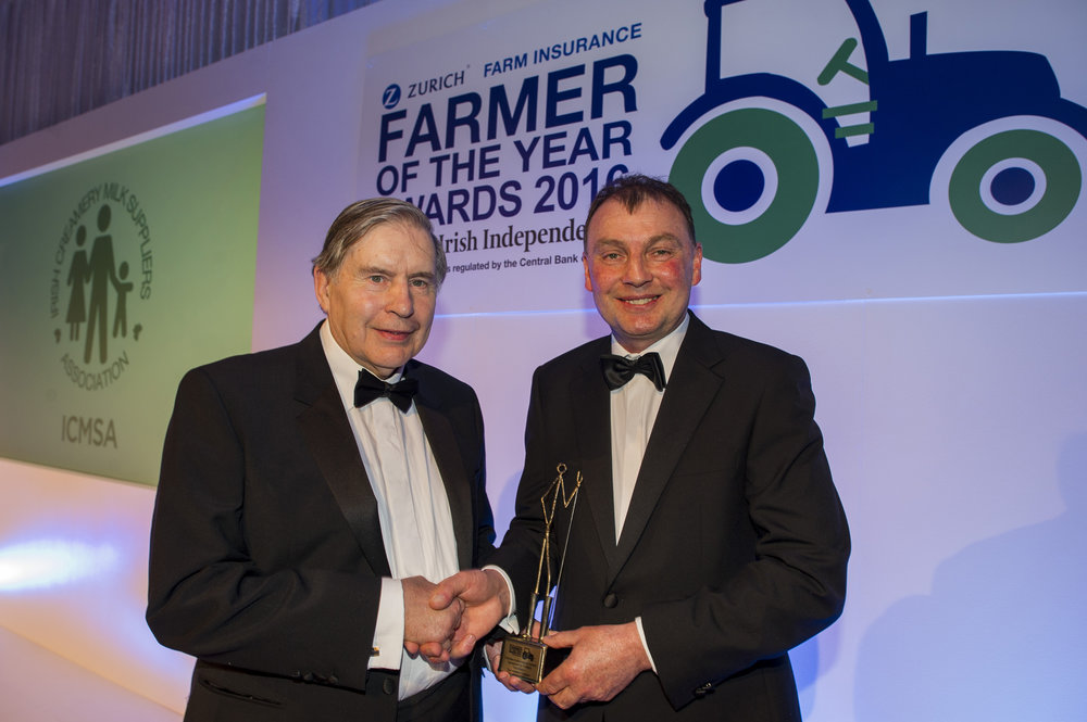 Ned Harty - Founder - Dairymaster with John Comer - President - ICMSA