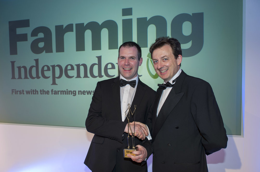 Mark Duffy - Alternative Farmer of the Year with Gerry Drum - Group Enterprise Manager - INM