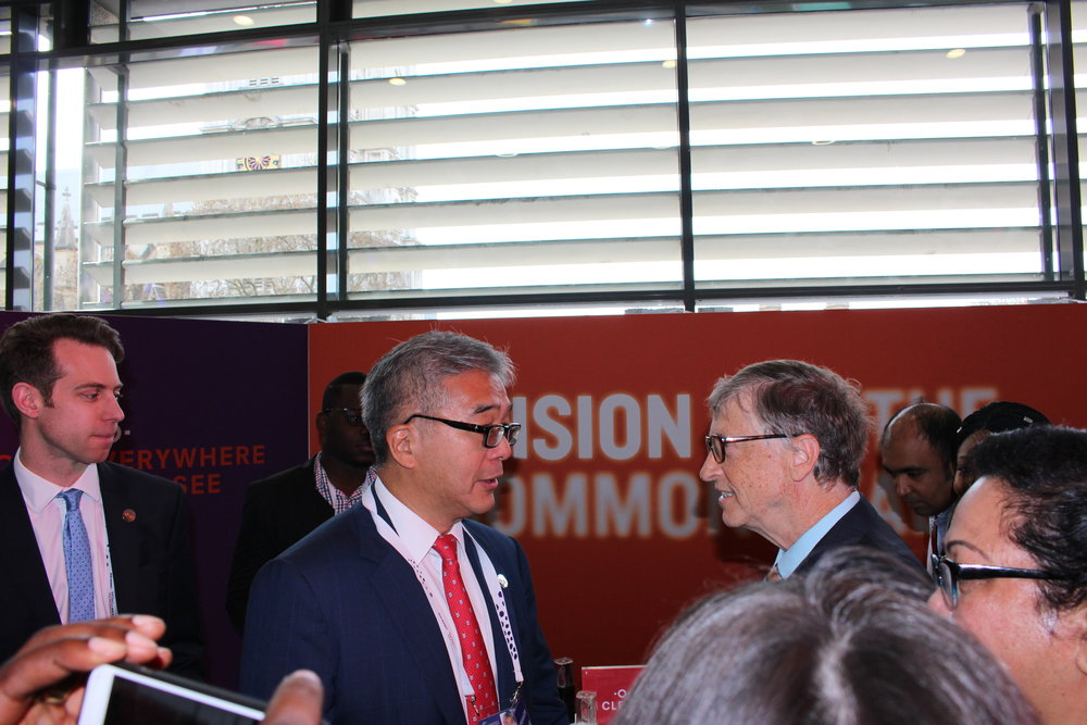Bill Gates meets with James at Vision for Commonwealth Stand