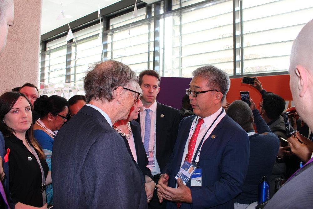 Rt Hon. PM Theresa May joins Bill Gates and James Chen