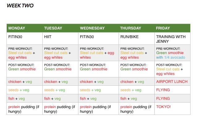week 2 plan